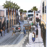 A rendering shows what Main Street is supposed to look like when the work is done. (From the Department of Public Works website)