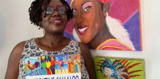 """St. Croix artist Danica David's signature style – bright, bold colors and strong graphics – highlights her book, """"Callaloo Culture."""""""