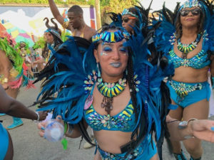 The Simply Sophisticated Fun Troupe dances down the parade route. (Anne Salafia photo)