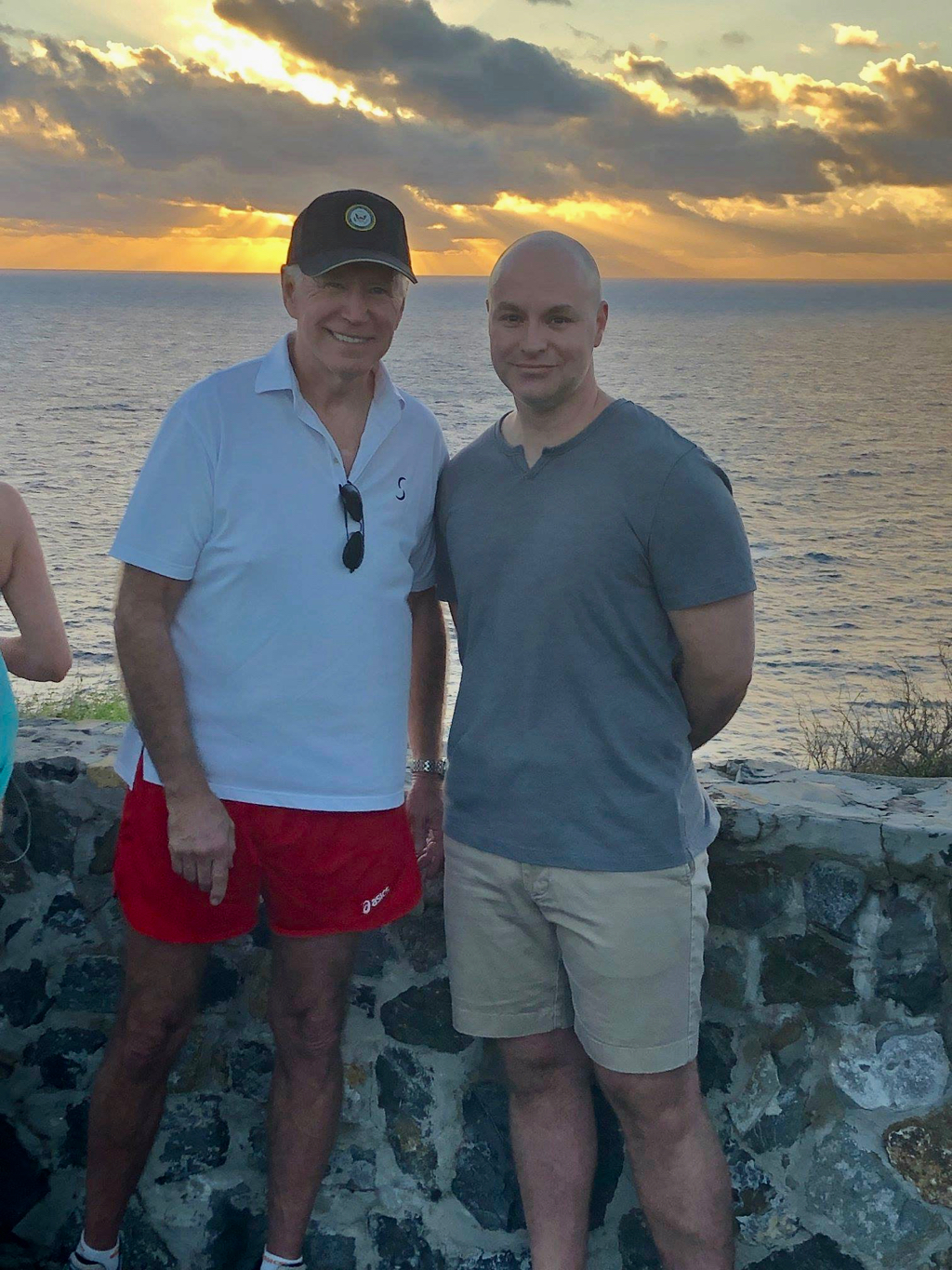 The familiar St. Croix landmark of Point Udall is clearly recognizable in this Facebook photo reportedly with Ohio resident George Summers. (Facebook photo)