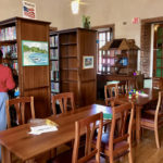 A visitor browses at the Sprauve Library. (Amy Roberts photo)