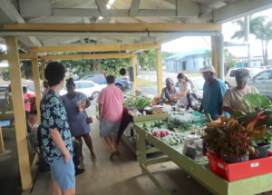 Cucumbers and other produce were on sale at the La Reine farmer's market on St. Croix recently. (Bill Kossler photo)