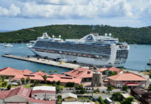 Princess Cruise ship in Crown Bay (Photo by Semele A.C. George)
