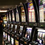 Slot machines in Las Vegas. (Public domain via Wikimedia)