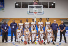 The USVI men's basketball team, which will host Brazil on Thursday and Chile on Saturday at the UVI Sports and Fitness Center on St. Thomas. (Submitted photo)