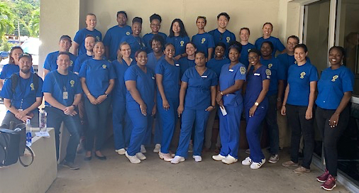 Student nurses at UVI's St. Thomas campus join the leptospirosis team.