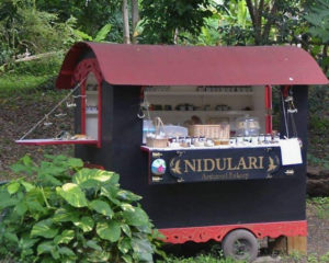 Nidulari Gypsy Food Truck is nestled into the greenery on Mahogany Road. (Photo by Merryn MacDonald)