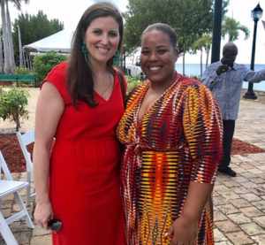 Shannon Sellman of Coca Cola and Sommer Sibilly-Brown of the V.I. Good Food Coalition. (Elisa McKay photo)