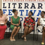 The Virgin Islands Studies Collective, from left, Tami Navarro, Tiphanie Yanique, Hadiya Sewer, LaVaughn Belle, appear at the USVI literary Festival. (Elisa McKay photo)