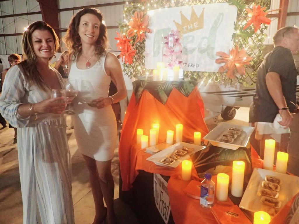 Dr. Lindsy Wagner and Lindsay Kammerzelt sample food from the Fred Hotel. (Susan Ellis photo)