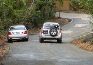 Not every abandoned car has been removed from the roads of the U.S. Virgin Islands, as this photo taken Wednesday morning attests. (sap photo)