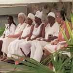Council of Elders members, from left, Shalima Edwards, Sara Hayes, Qiyahmah Rahman, Tahirah Abu Bakr, Etherero Akinshegun and Frandelle Gerard are presented to the community at an event in 2016. (Submitted photos)