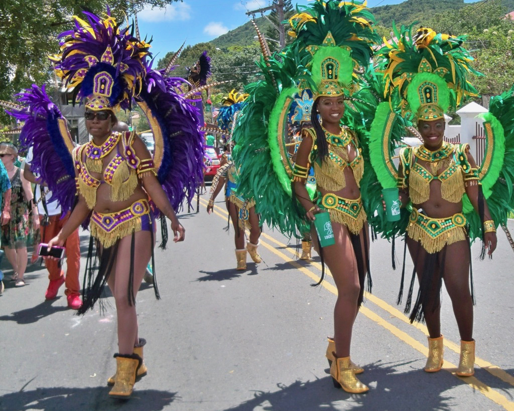 Crucian Carnival troupers. (Don Buchanan photo)