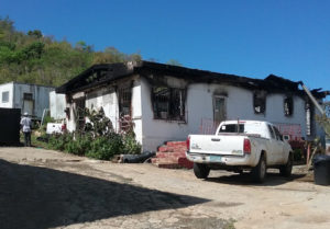 The fire scene, the morning after. (Judi Shimel photo)