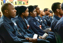 A group of 35 Virgin Islanders represent Limetree Bay's first graduating class from a six-week program on refinery basics. (Source photo by Wyndi Ambrose)
