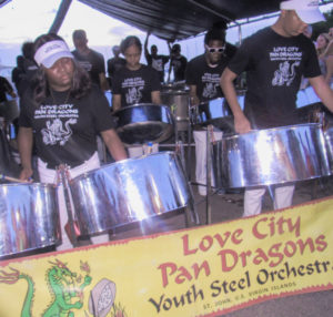 "The Love City Pan Dragons performs in honor of ""Mac"" O'Donnell, the father of two of the band's members."