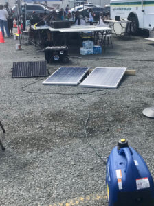 The event duplicated post-hurricane conditions by running on generators, solar panels, and batteries.