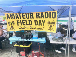 The radio club set up in Tutu Park Mall Parking Lot and invited the public to learn more about amateur radio.