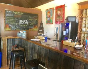 Inside Smoke STX is a rum barrel counter. (Elisa McKay photo)
