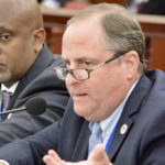 Lawrence Kupfer, executive director WAPA, addresses the issue of payments to Vitol during Wednesday's Senate discussion. (Photo by Barry Leerdam, Legislature of the Virgin Islands)