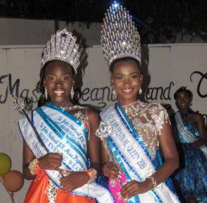 Newly crowned 2019 Junior Miss St. John Festival Tamyra Bartlette and 2019 Miss St. John Festival Queen Lenisha Richards.
