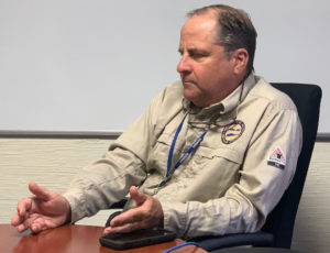 Lawrence Kupfer discusses WAPA's Transformation Plan during an interview Monday. (Source photo by sap)