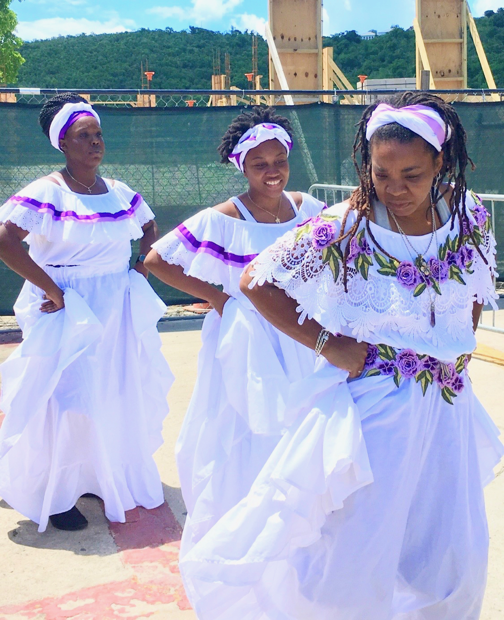 Macislyn Bamboula dancers take the stage. (Source photo by Amy Roberts)