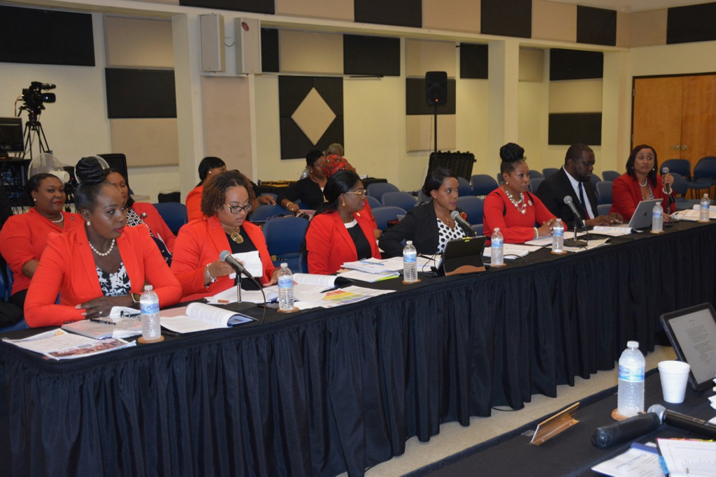 The Personnel team came dressed in red, except for the director. (Contributed photo)