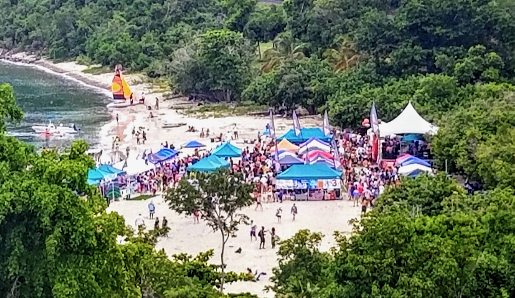 Hundreds converge on Brewer's Beach for the 35th annual Texas Chili Cookoff. (Bethaney Lee photo)