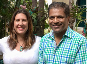 Kelly Lawson and Harith Wickrema of Island Green Living Association. (Source photo by Amy Roberts)