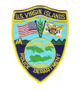V.I. Police Department insignia shoulder patch