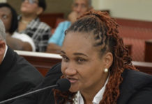 Dionne Wells-Hedrington, chief operating officer for education, said new school buildings are needed. (Photo by Barry Leerdam, V.I. Legislature)