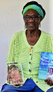 Gloria Joseph with the Lambda Award she won in June 2017 for 'Wind is Spirit.' (Submitted photo)