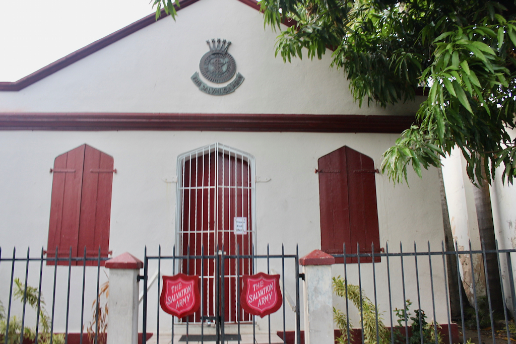 Salvation Army is located within Market Square on the island of St. Thomas. (Source photo by Bethaney Lee)