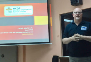 Peter Gudiatis talks about forming a Volunteer Organizations Active in Disaster in the territory. (Source photo by Susan Ellis)