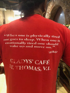 Gladys' Cafe is now open for business and signature T-shirts are available for sale. (Source photos by Teddi Davis)