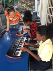 Lauren Magnie teaches piano at the St. John School of the Arts.