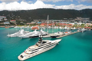 Artist's conception shows a ship arriving at Yacht Haven Grande. (Image from the IGY website)
