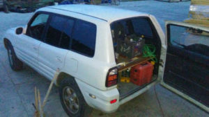 A RAV 4 containing the tools of its owner was stolen in September.
