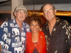 Arnold Highfield, left, with his sister-in-law, Luz Suarez de Highfield, and brother, Terrence Highfield. (Submitted family photo)