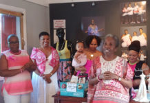 YAG Vice President Cassandra Dunn talks about the purpose of the organization during at the My Girlfriends's Closet/YAG Breast Cancer Event. (Source photo by Denise Lenhardt-Benoit)
