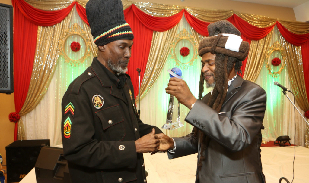 Akae Beka receives a Lifetime Achievement Award (Photo from the Steel Pulse Face Book page)