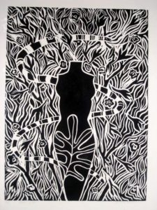'In the Garden' – black and white print by Janet Cook-Rutnik. (Submitted photo)