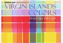 Debbie Sun designed this canadidate for the officias U.S. Virgin Islands madras.
