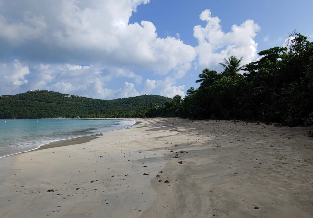 The view looking east from Magens Bay. (Source photo by Shaun A. Pennington)