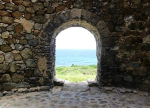 An ocean view from a sugar mill on St. Croix's north shore. (Source file photo by Kelsey Nowakowski)