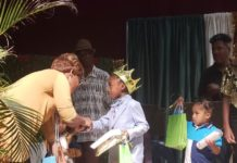 Rah'Kim Clark takes the crown for the PeeWee Division at Saturday's St. Croix Junior Calypso compettion.