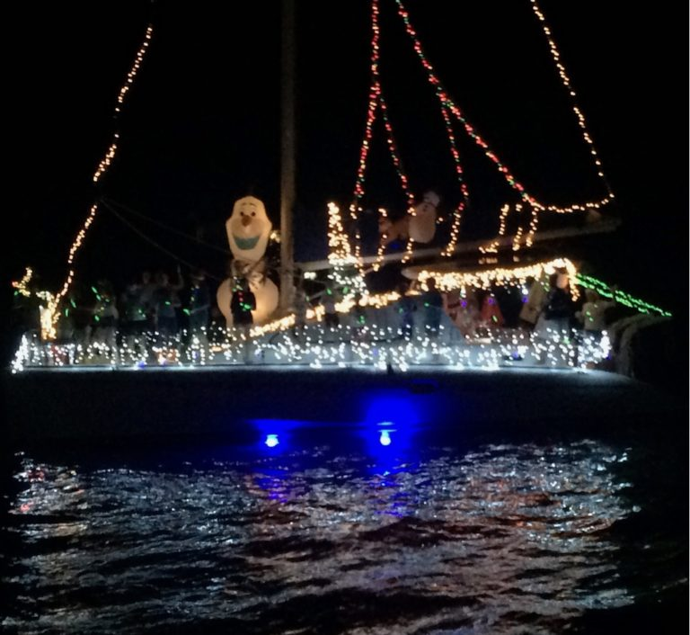 Illuminated Boats Deliver Christmas Spirit in Christiansted Harbor