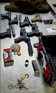 Firearms seized at the Henry E. Rohlsen Airport. (VIPS photo)