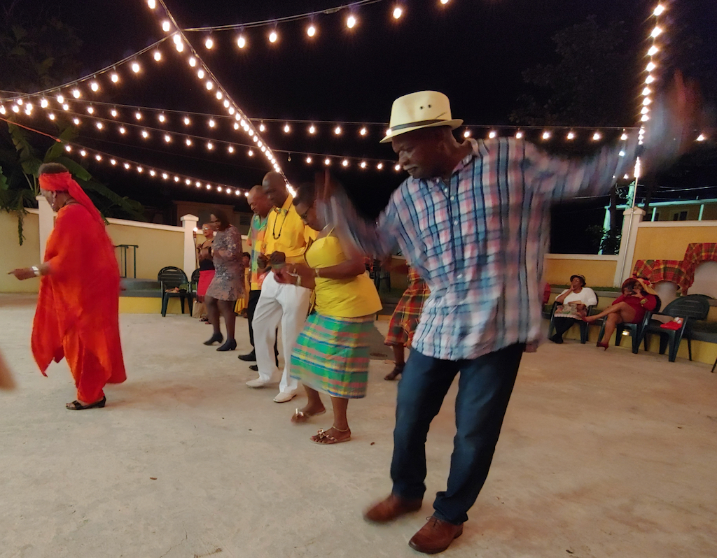 Almost as important a cultural tradition in the Virgin Islands as Madras is dancing the Electric Slide at almost any event. (Source photo by Denise Lenhardt-Benoit)